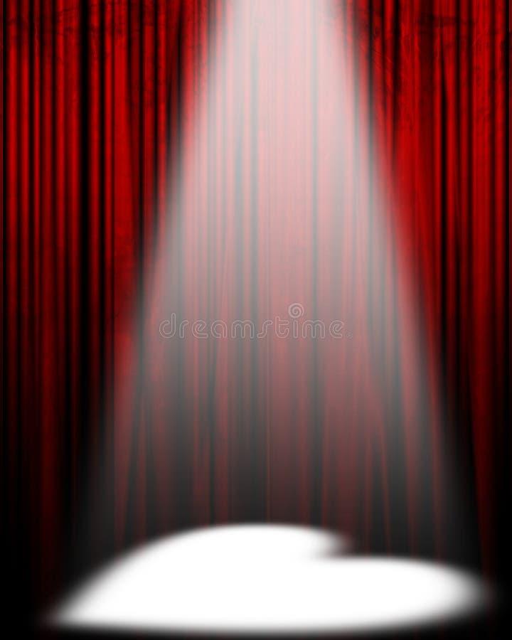电影或剧院窗帘 向量例证