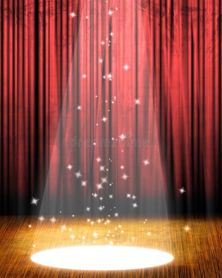 电影或剧院窗帘 皇族释放例证