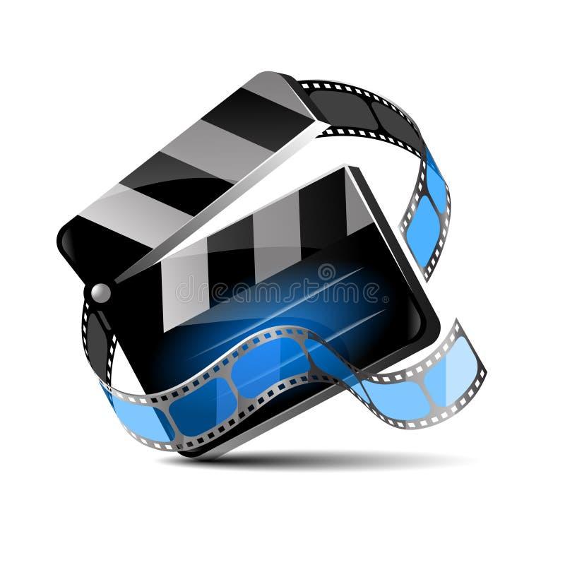 电影或影片的,传染媒介例证拍板传染媒介 向量例证