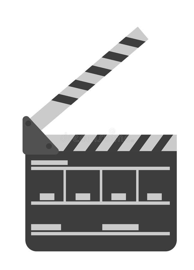 电影拍板传染媒介动画片例证 库存例证