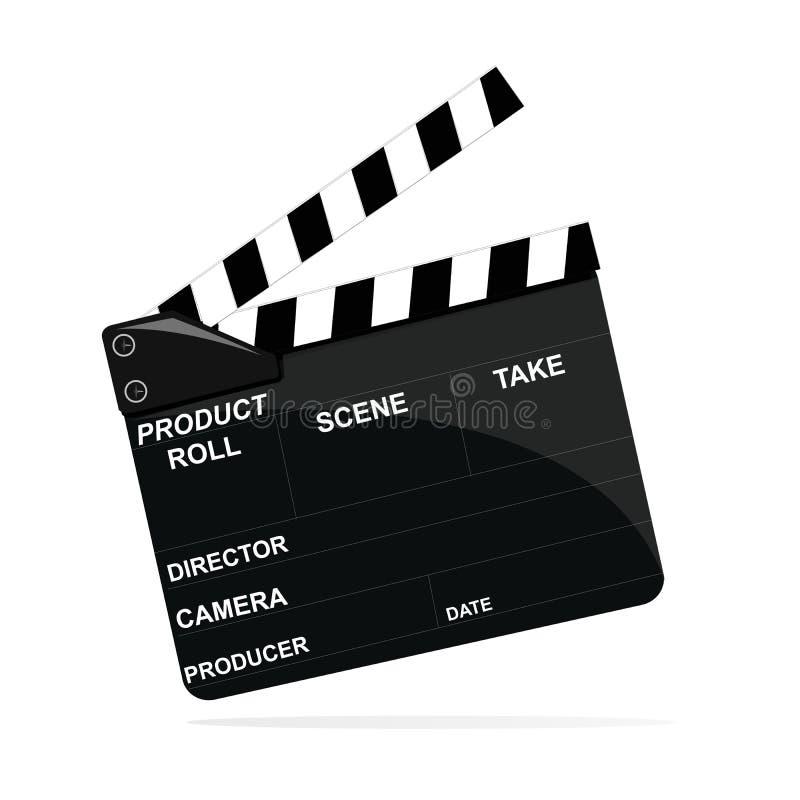 电影拍板图标 向量例证