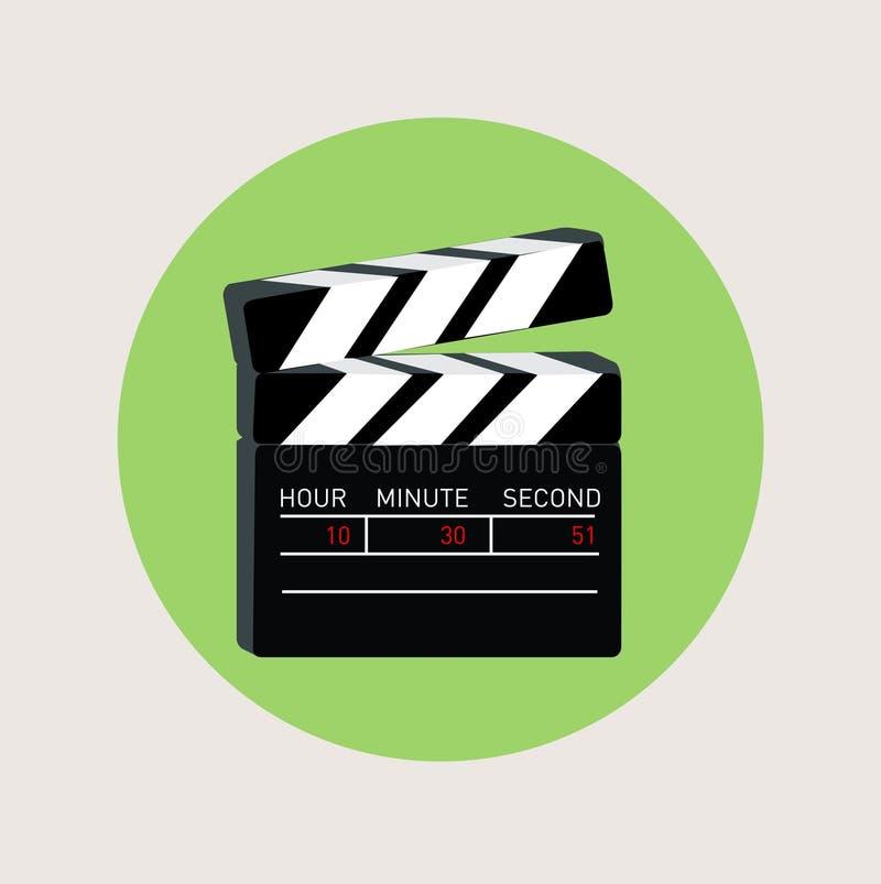 电影拍板平的设计传染媒介 向量例证