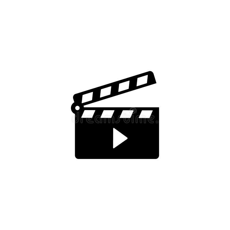 电影拍板开放象 库存例证