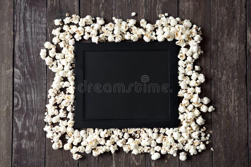 电影拍板用玉米花 图库摄影