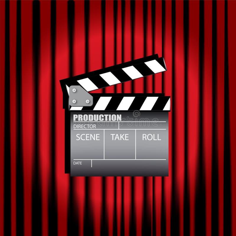 电影拍板 库存例证