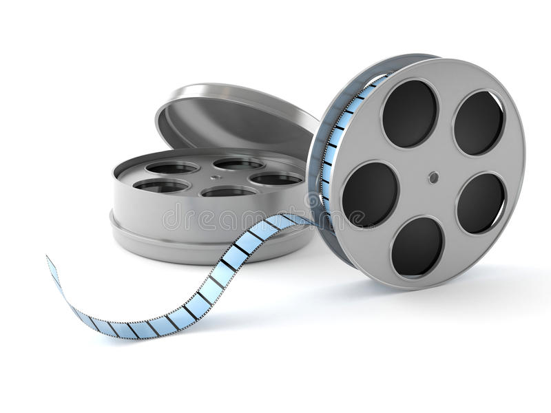 电影摄影术的概念电影工业卷轴 向量例证
