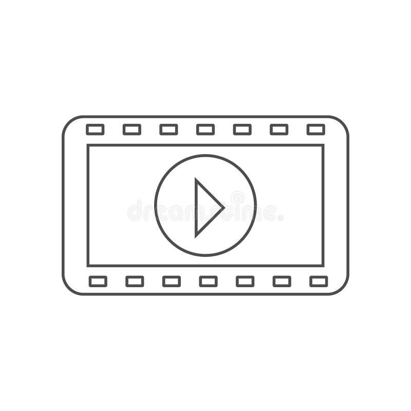 电影摄影术的磁带象 设置戏院元素象 r 标志和标志汇集象为 向量例证