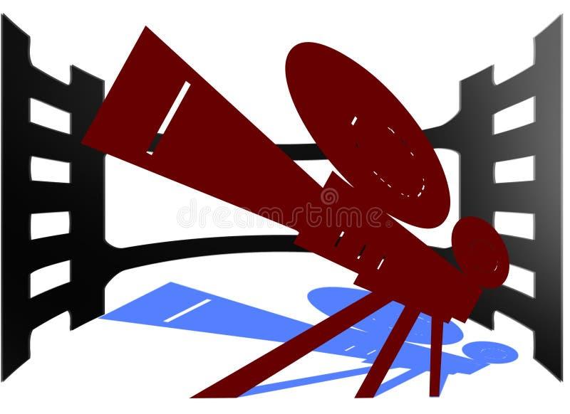 电影摄影机和影片 免版税图库摄影