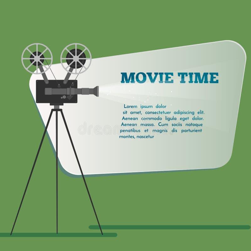 电影放映时间海报 外籍动画片猫逃脱例证屋顶向量 电影的戏院 皇族释放例证