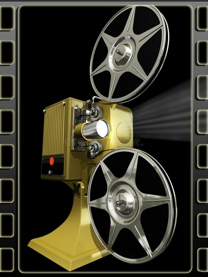 电影放映机显示 库存例证