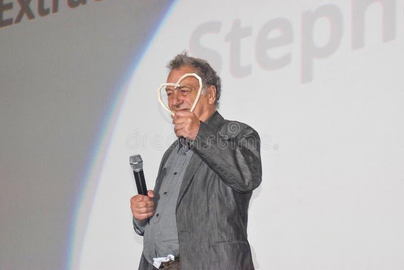 电影斯蒂芬・弗里尔斯导演接受萨拉热窝的名誉心脏 免版税库存照片