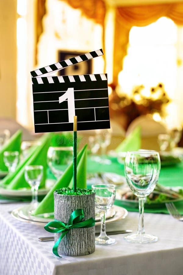 电影样式表婚礼 免版税图库摄影