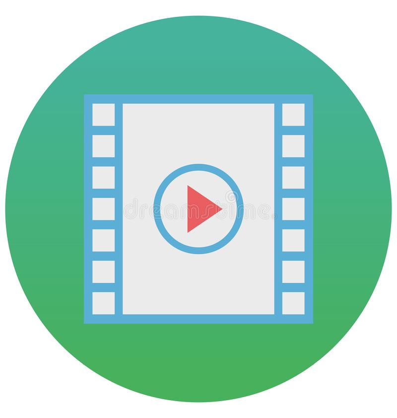 电影演员隔绝了可以容易地是编辑的传染媒介象或修改了 库存例证