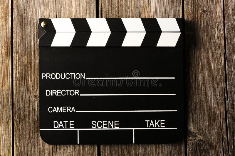 电影生产拍板 免版税图库摄影