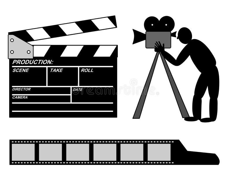 电影生产汇集 向量例证