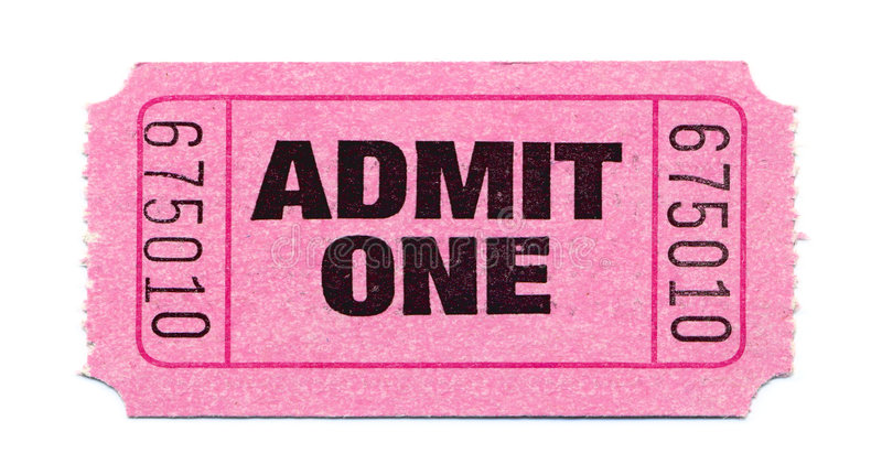 电影票 库存照片