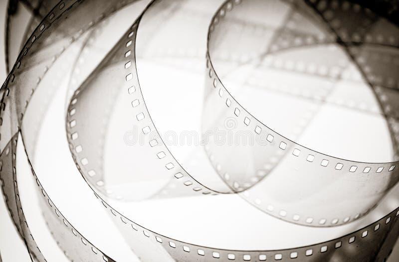 电影背景葡萄酒黑白影片轴 库存照片