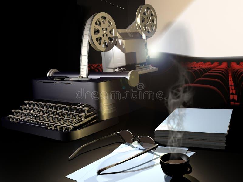 电影脚本 向量例证