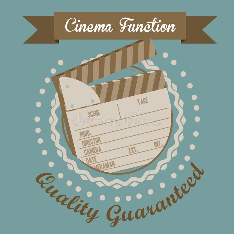 Download 电影象 向量例证. 插画 包括有 摄影, clapperboard, clicker, 戏院, 没人, 例证 - 30331164