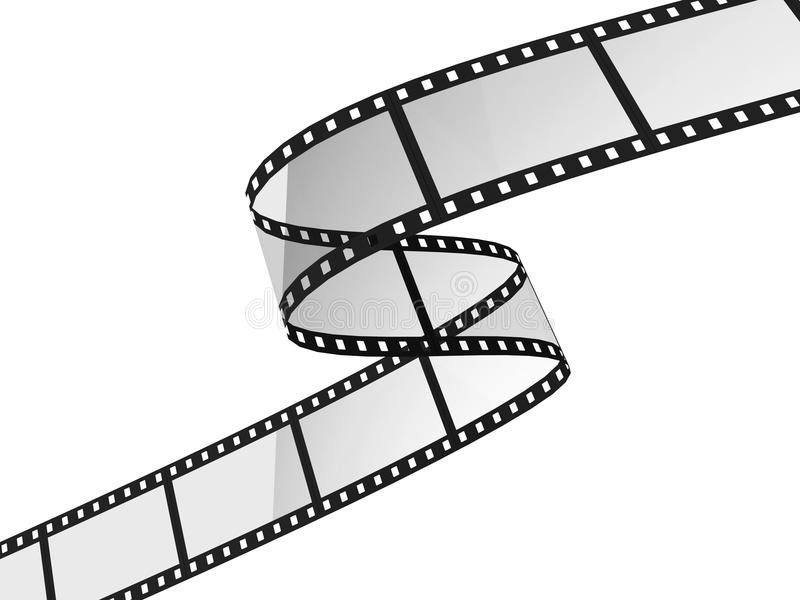 电影filmstrip 皇族释放例证
