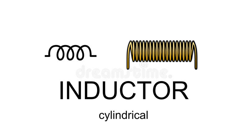 电感器图标和符号 向量例证