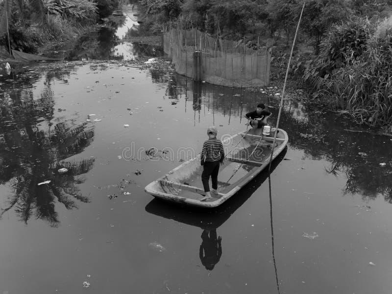 电捕鱼活动 库存照片