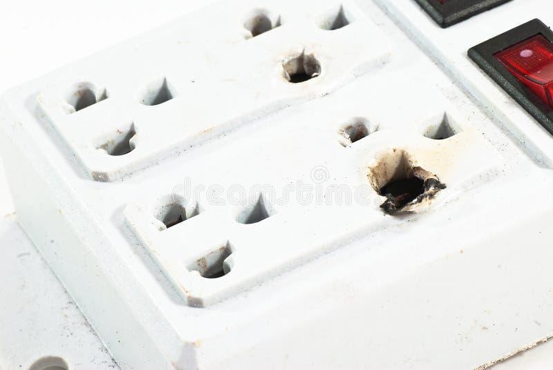 电损坏插件 库存图片