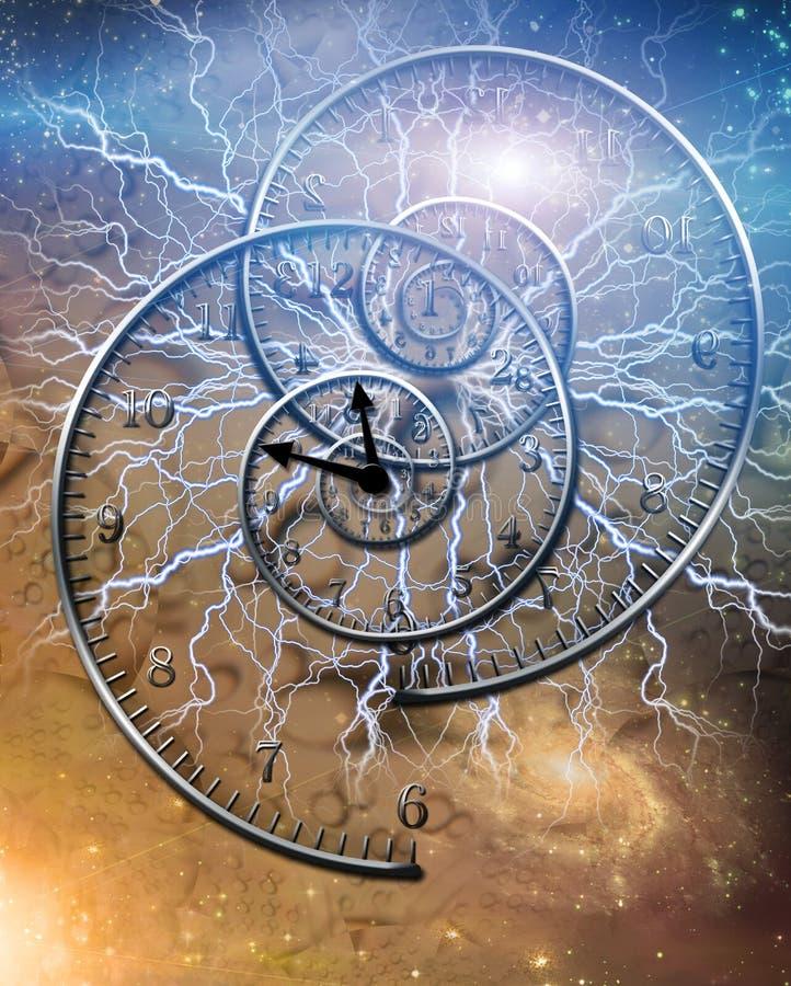 电时间 向量例证