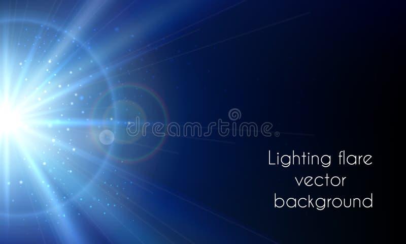 电星闪光 抽象照明设备火光 向量例证