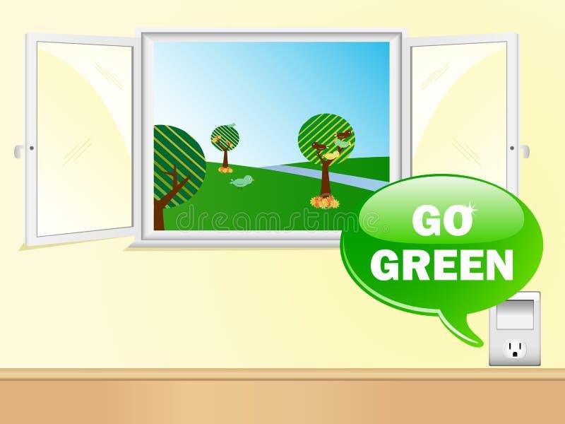 电是绿色出口说 库存例证