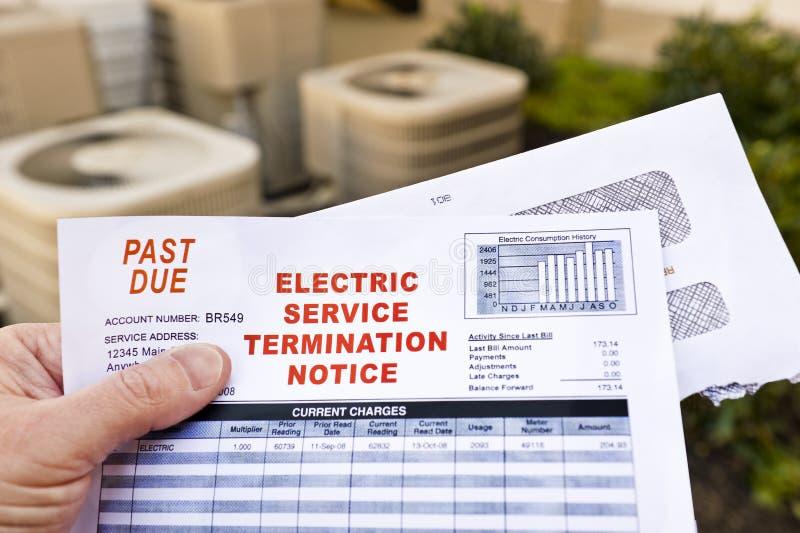 电服务终止通知 免版税库存照片