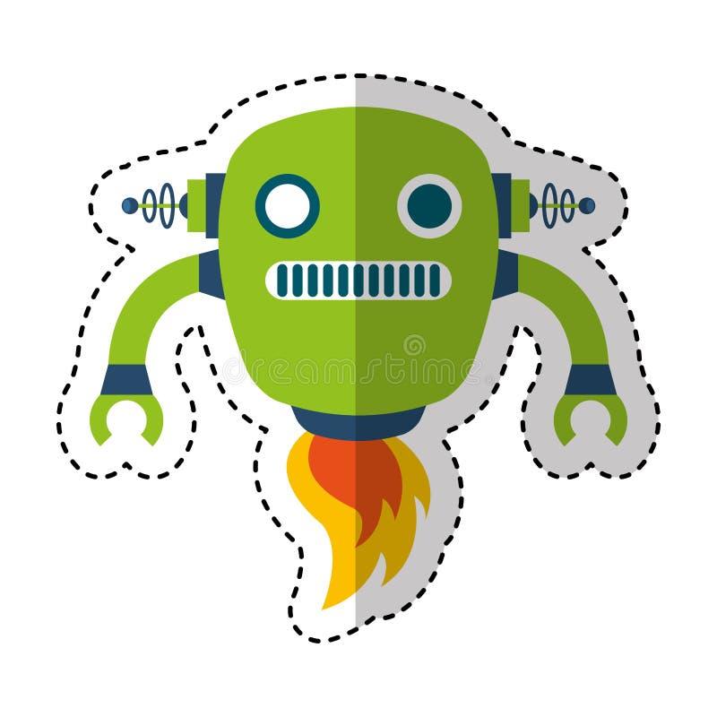 电机器人具体化字符 向量例证