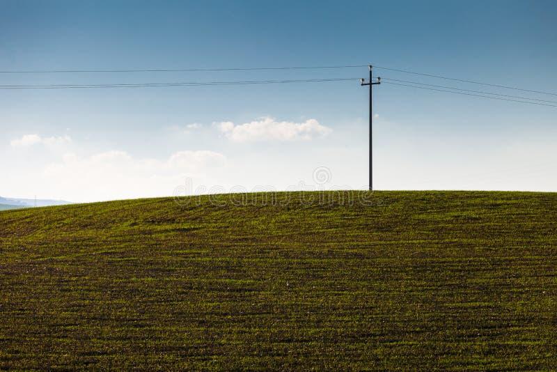 电杆在乡下 免版税库存图片
