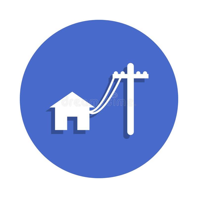 电杆在徽章样式排行安置象 一电镀汇集象可以为UI, UX使用 皇族释放例证