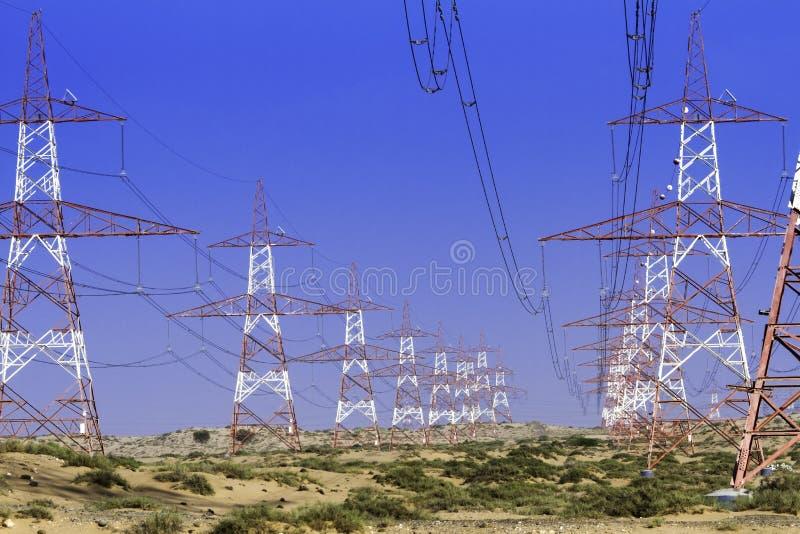 电杆在迪拜,阿拉伯联合酋长国阿联酋 免版税库存图片