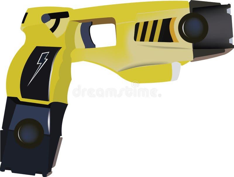 电枪自卫的被提供的警察 库存例证