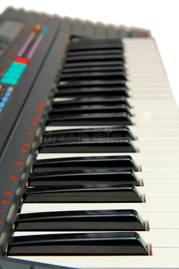 电查出的关键董事会钢琴 免版税库存图片