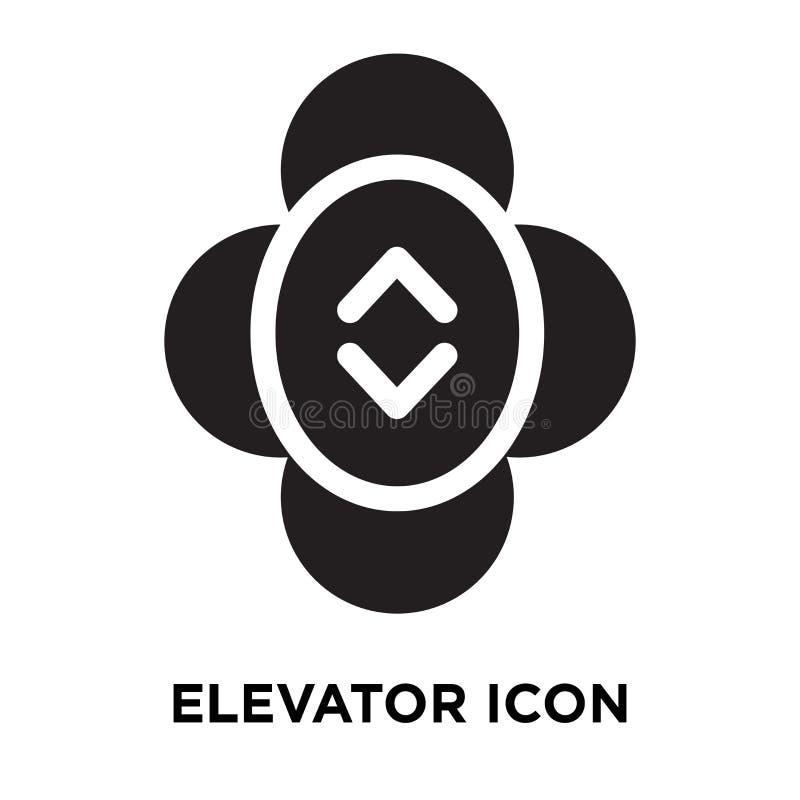 电梯在白色背景隔绝的象传染媒介,商标概念 皇族释放例证