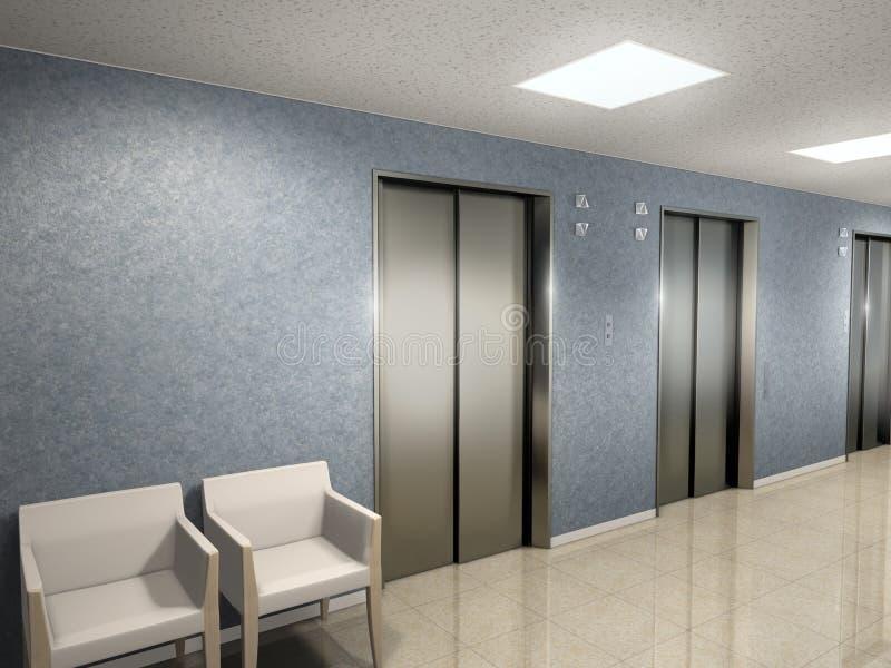 电梯大厅 皇族释放例证