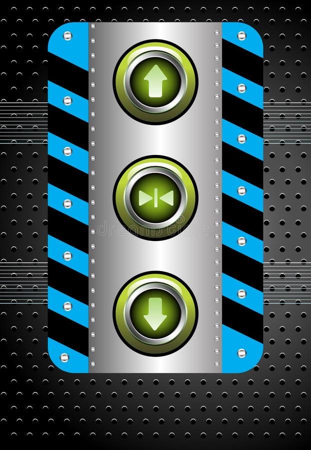 电梯按钮 皇族释放例证