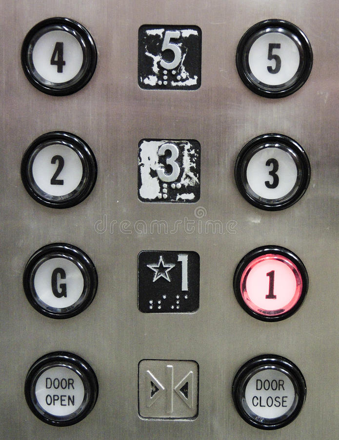 电梯按钮 免版税库存图片