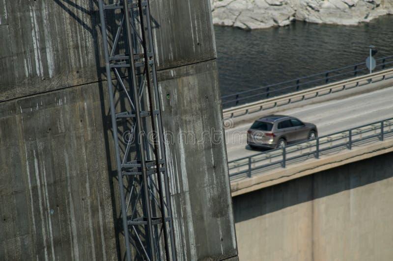 电梯方式桥梁脚 免版税库存图片