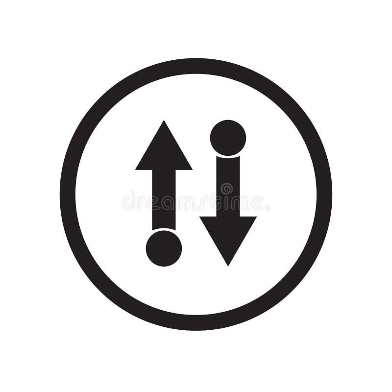 电梯箭头象在白色背景和标志隔绝的传染媒介标志,电梯箭头商标概念 库存例证