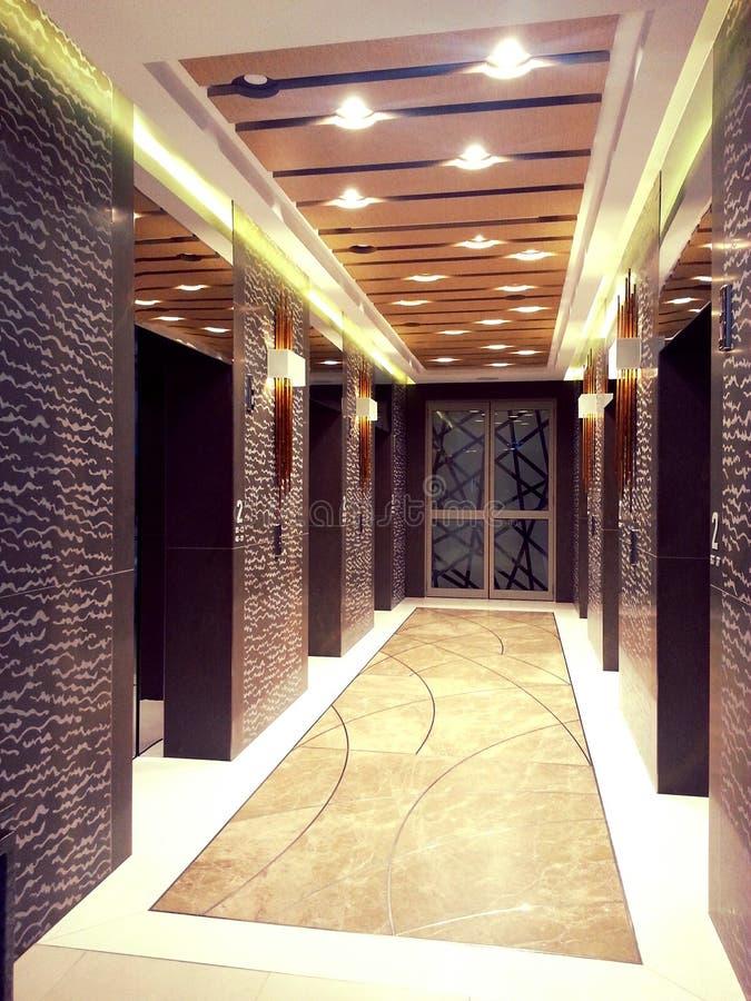 电梯走廊 免版税库存图片