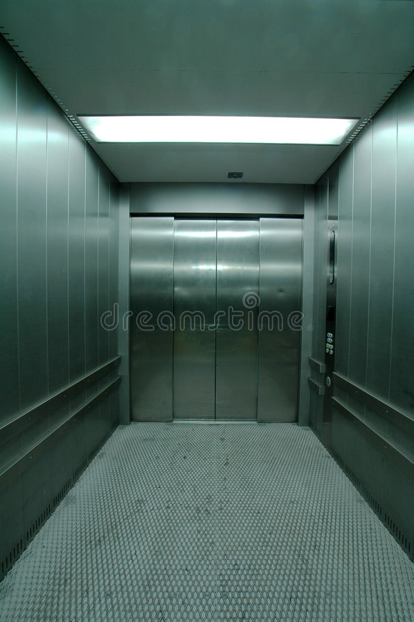 电梯钢 库存照片