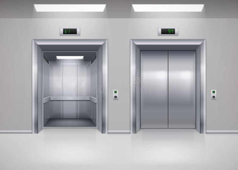 电梯门 库存例证