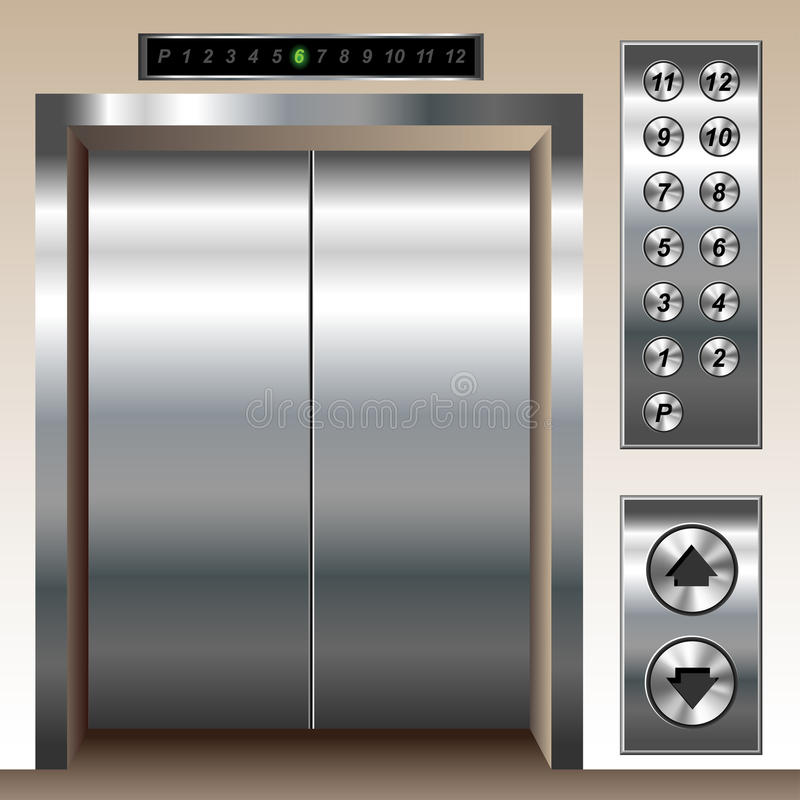 电梯集 皇族释放例证