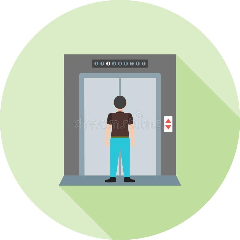电梯 皇族释放例证