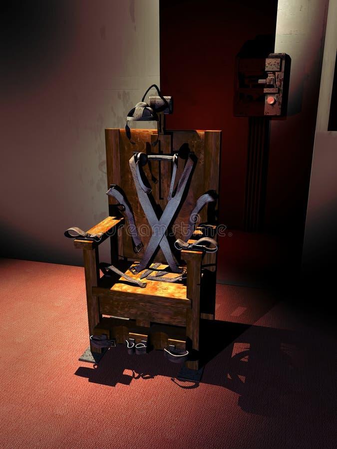 电椅 库存例证