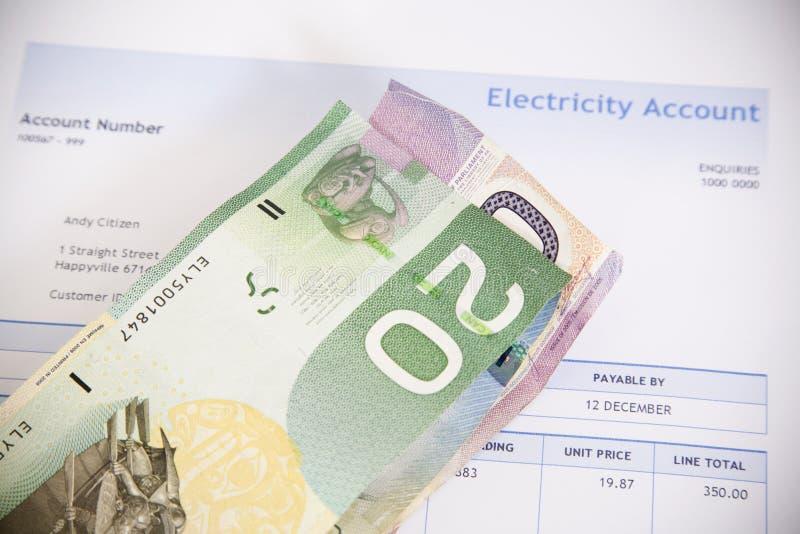 电比尔和加拿大金钱 免版税库存图片